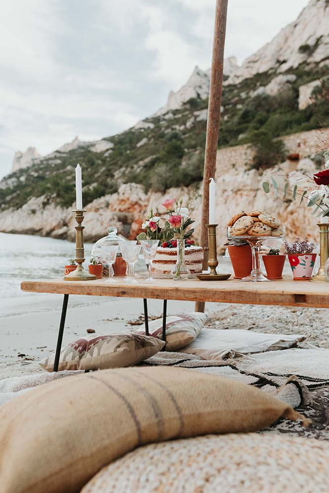 table mariage plage